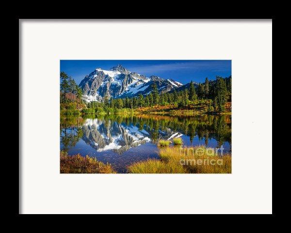 Picture Lake Framed Print By Inge Johnsson