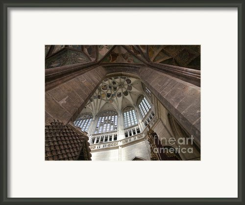 Pointed Vault Of Saint Barbara Church Framed Print By Michal Boubin