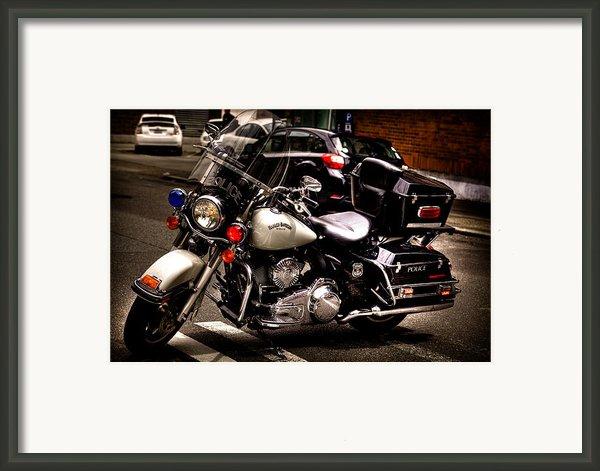 Police Harley Framed Print By David Patterson