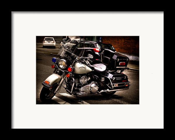 Police Harley Framed Print By David Patterson