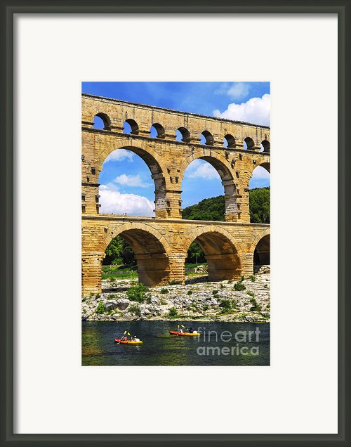 Pont Du Gard In Southern France Framed Print By Elena Elisseeva