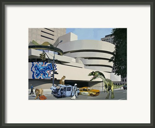 Post-nuclear Guggenheim Visit Framed Print By Scott Listfield