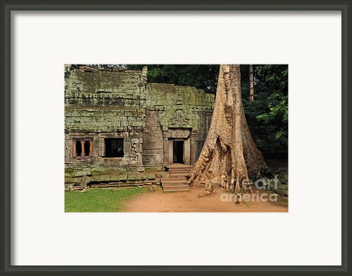 Preah Khantemple At Angkor Wat Framed Print By Sami Sarkis