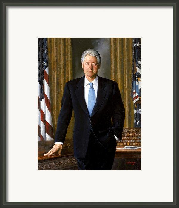 President Bill Clinton Framed Print By War Is Hell Store