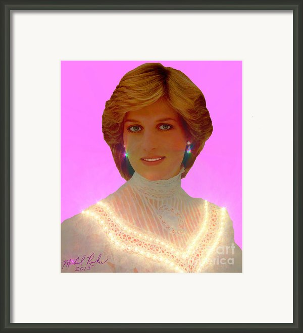 Princess Diana Framed Print By Michael Rucker