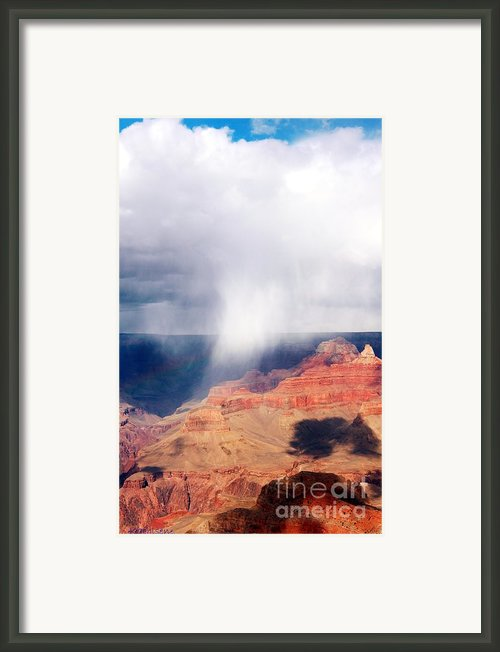 Raining In The Canyon Framed Print By Kathleen Struckle