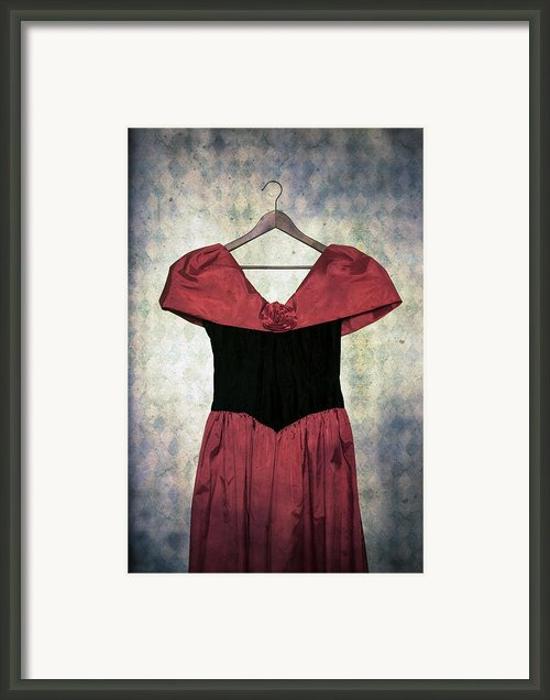 Red Dress Framed Print By Joana Kruse