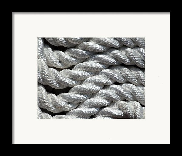 Rope Pattern Framed Print By Yali Shi