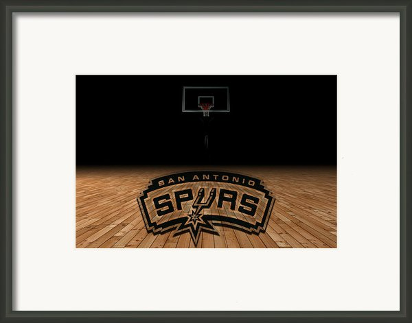 San Antonio Spurs Framed Print By Joe Hamilton
