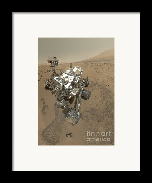 Self-portrait Of Curiosity Rover Framed Print By Stocktrek Images