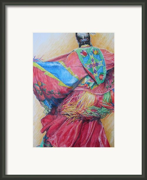Shawl Dancer Framed Print By Sharon Sorrels