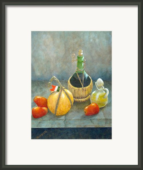Sicilian Table Framed Print By Pamela Allegretto