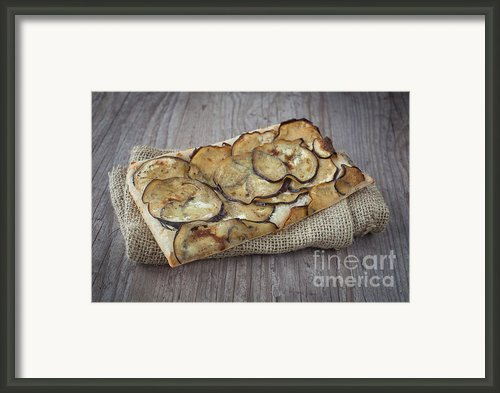 Sliced Pizza With Eggplants Framed Print By Sabino Parente