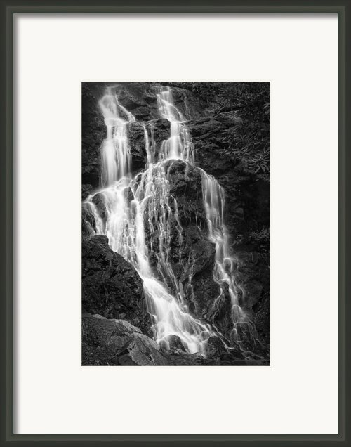 Smokey Waterfall Framed Print By Jon Glaser