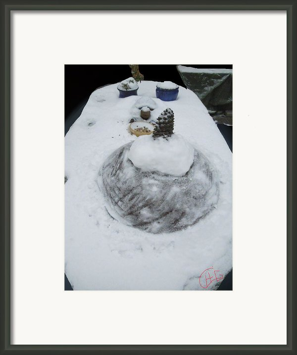 Snow Fall Serie December 2012  Framed Print By Colette V Hera  Guggenheim