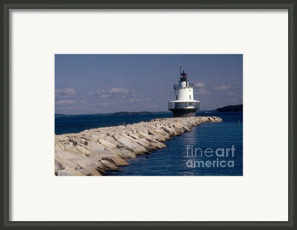 Spring Point Ledge Lighthouse Framed Print By Bruce Roberts