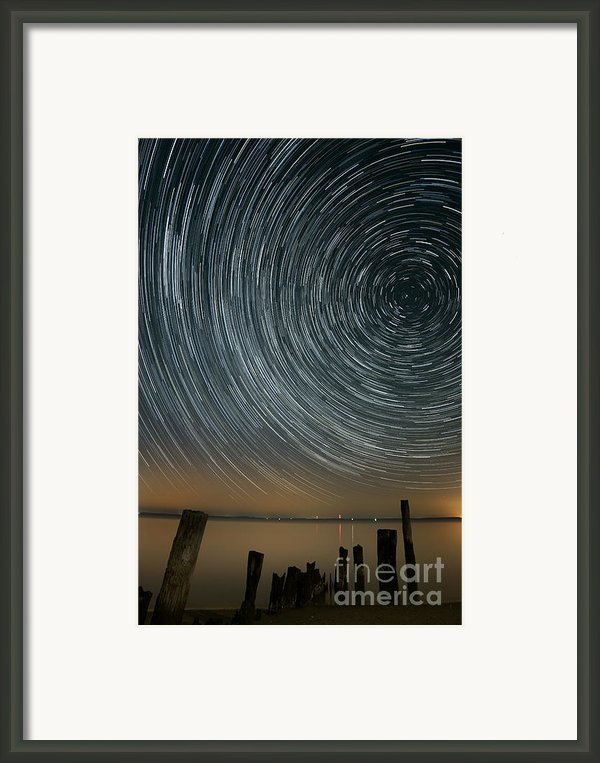 Star Trails 1 Framed Print By Benjamin Reed