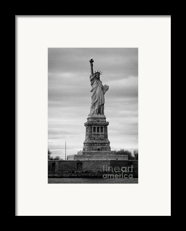 Statue Of Liberty Liberty Island New York City Framed Print By Joe Fox