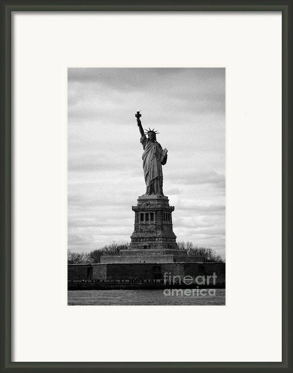 Statue Of Liberty Liberty Island New York City Usa Framed Print By Joe Fox
