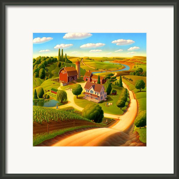 Summer On The Farm  Framed Print By Robin Moline