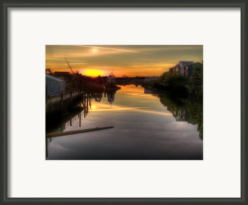 Sunrise On The Petaluma River Framed Print By Bill Gallagher