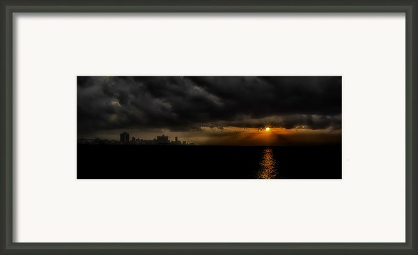 Sunset In Havana Framed Print By Erik Brede