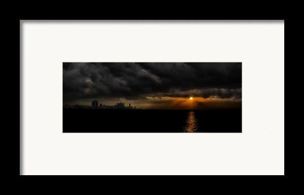 Sunset In Havana Framed Print By Erik Brede
