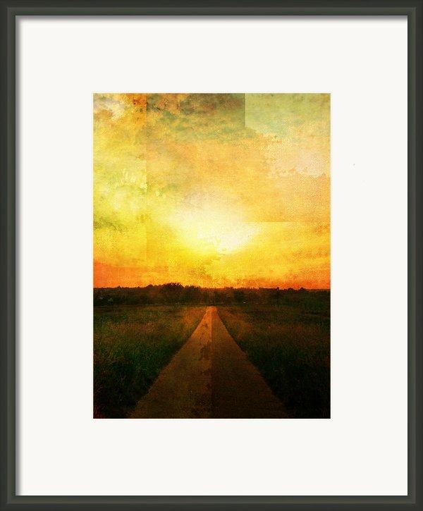 Sunset Road Framed Print By Brett Pfister