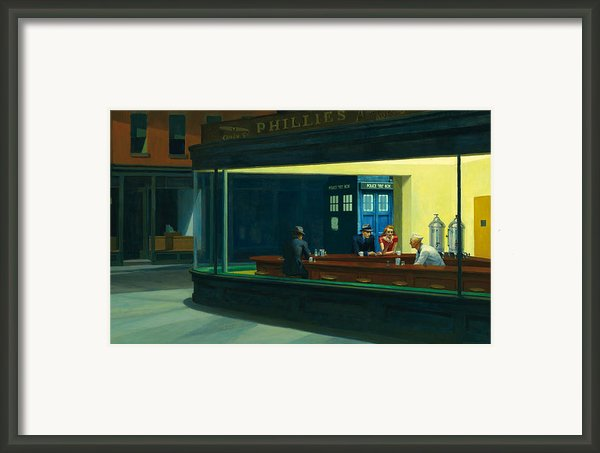 Tardis V. Edward Hopper Framed Print By Gp Abrajano