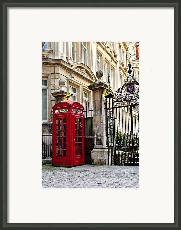 Telephone Box In London Framed Print By Elena Elisseeva
