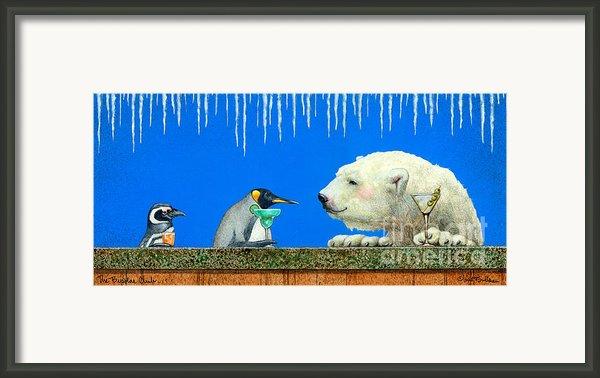 The Bipolar Club... By Will Bullas Framed Print By Will Bullas