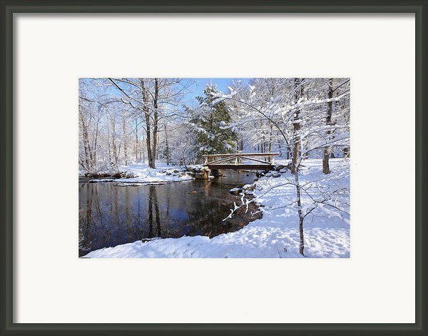 The Bridge Framed Print By Bill  Wakeley