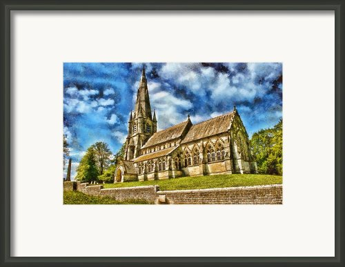 The Church Of St Mary Framed Print By John Adams