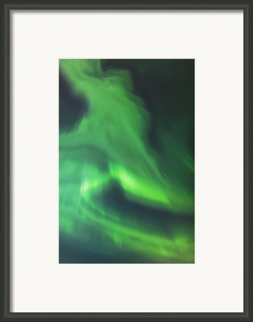 The Green Northern Lights Corona Framed Print By Kevin Smith