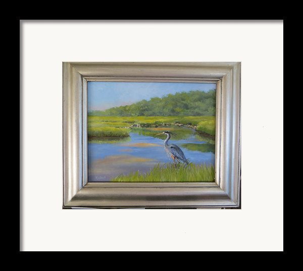 The Millway Marsh Framed Print By Karol Wyckoff