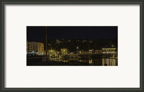 The Red Bridge Framed Print By Timothy Latta