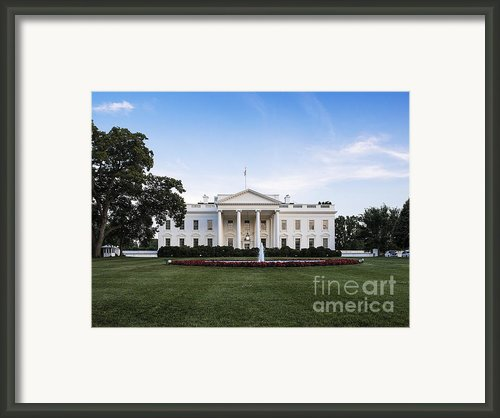 The White House Framed Print By John Greim