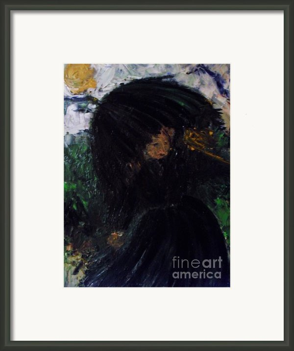 The Widow Framed Print By Laurie D Lundquist