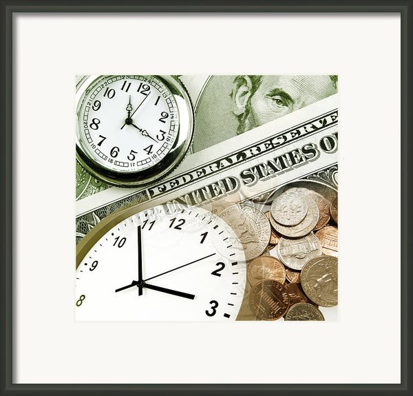 Time Is Money Concept Framed Print By Les Cunliffe