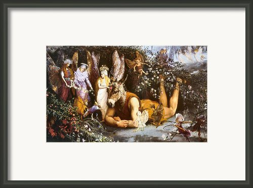 Titania And Bottom Framed Print By John Anster Fitzgerald