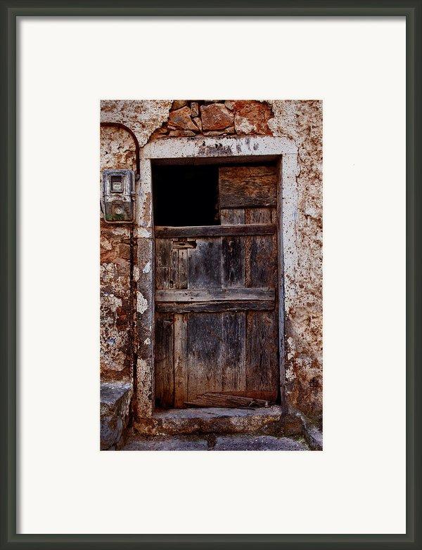 Traditional Door Framed Print By Emmanouil Klimis