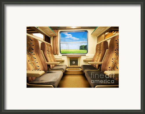 Travel In Comfortable Train. Framed Print By Michal Bednarek