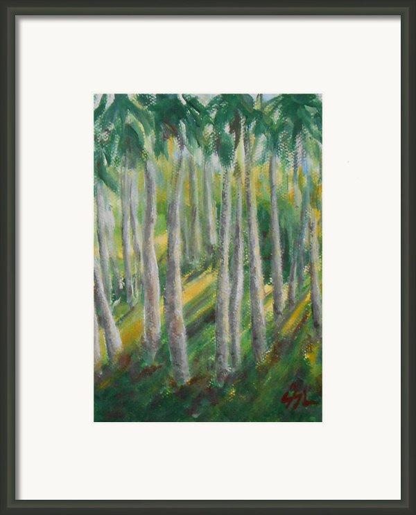 Tropical Framed Print By Jane  See