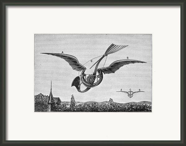 Trouv�s Ornithopter Framed Print By Granger