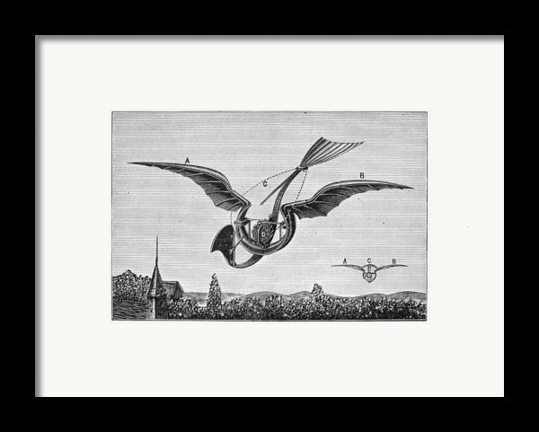 Trouv�s Ornithopter Framed Print By Granger