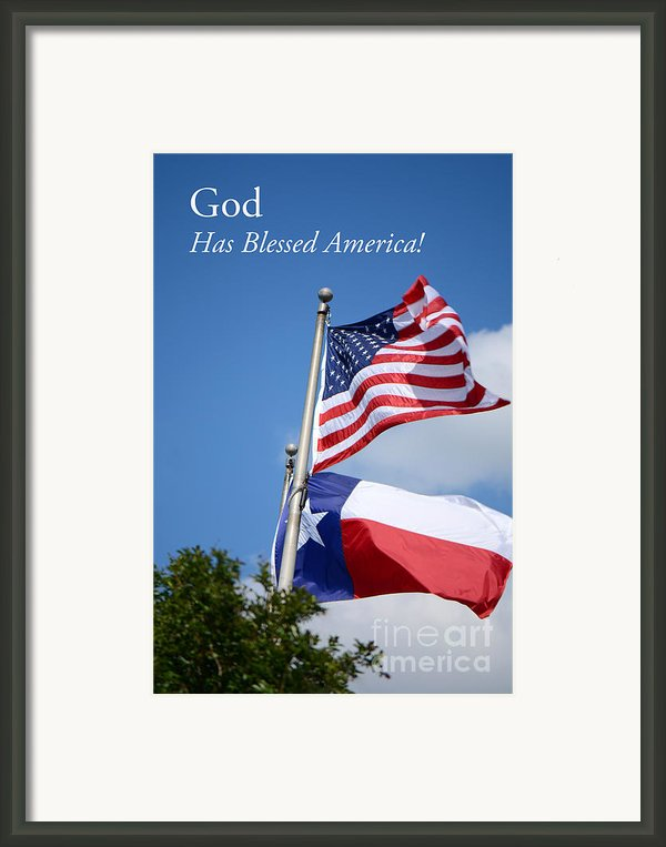 God Has Blessed America Framed Print By Connie Fox