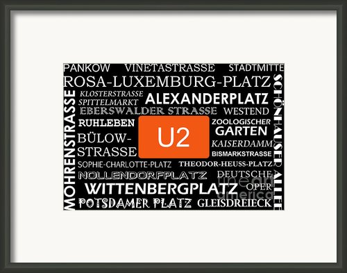 U Bahn Metro U2 Berlin Framed Print By Art Photography