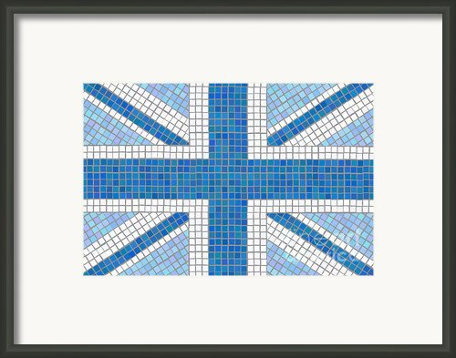 Union Jack Blue Framed Print By Jane Rix