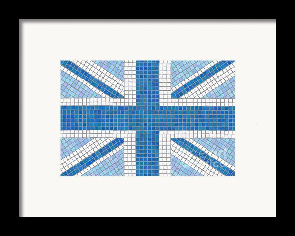 Union Jack Blue Framed Print By Jane Rix