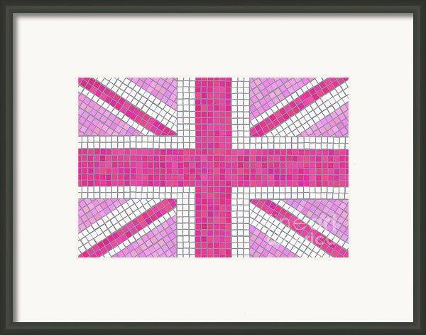 Union Jack Pink Framed Print By Jane Rix